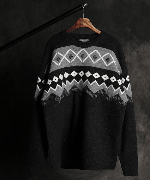 T-17144wool jacquard knit