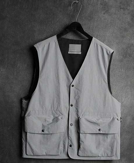 JK-85013 POKET VEST JACKET3 포켓 베스트 자켓Color : 2 colorMaterial : poly/cotton