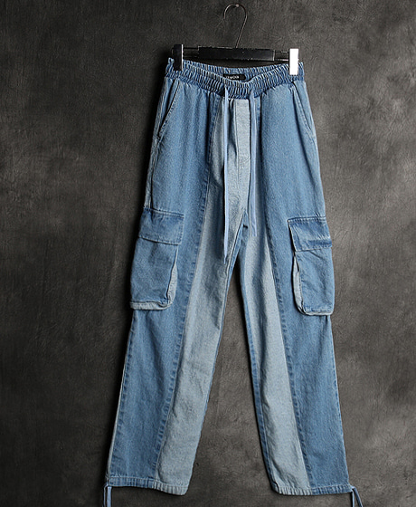 P-8087COLOR SCHEME CARGO DENIM PANTS배색 카고 데님 팬츠Color : 2 colorMaterial : cotton/denim