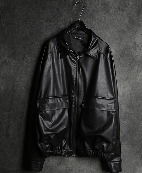 JK-9144LEATHER BLOUSON JACKET레자 블루종 자켓Color : 1 colorMaterial : leather