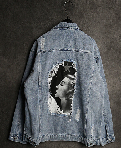 JK-8960MARILYN MONROE DENIM JACKET마릴린 먼로 데님 자켓Color : 1 colorMaterial : denim
