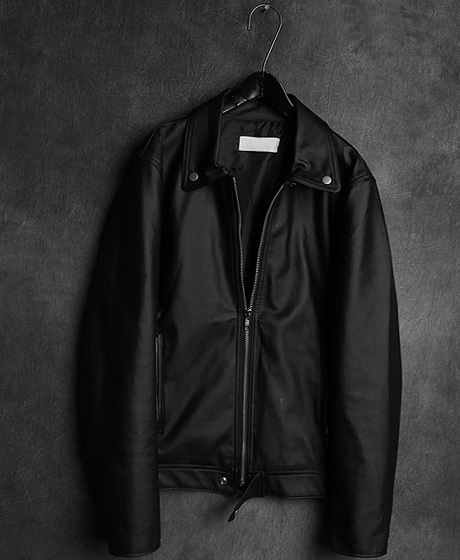 JK-10116LEATHER ZIP_UP JACKET가죽 집업 자켓Color : 1 colorMaterial : leather