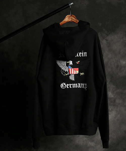 T-16581VTM eagle embroidery hoodie